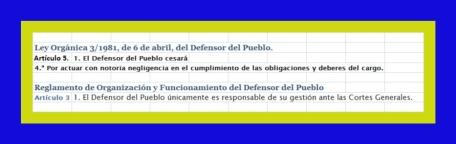 1 DEFENSOR DEL PUEBLO LEY REGLAMENTO FUNCIONAMIENTO